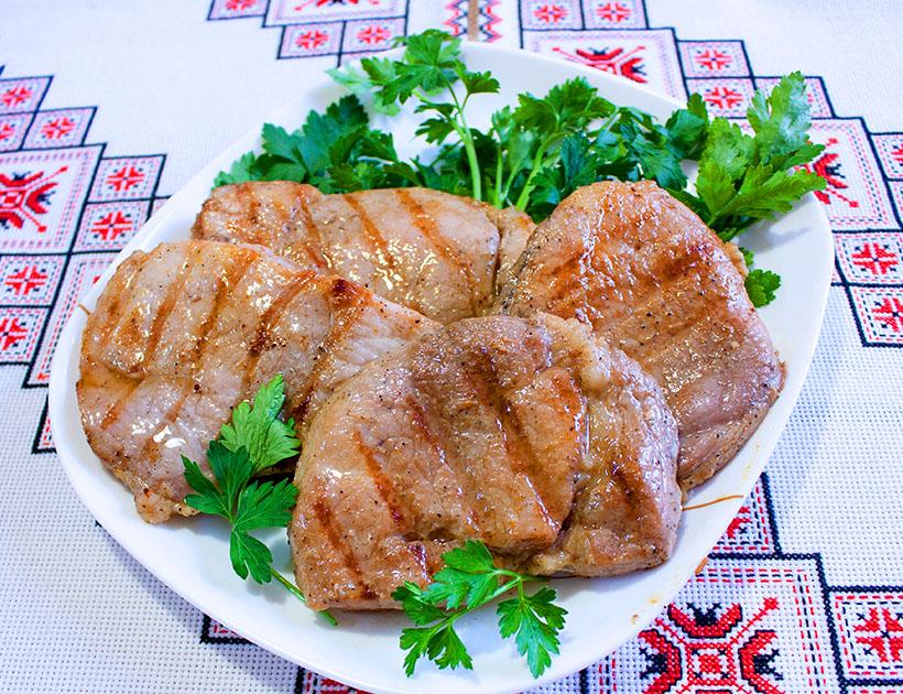 Стейк из свинины на сковороде-гриль БИОЛ