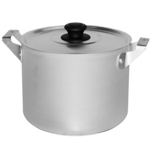 Casserole with 2 metal handles and lid 14080