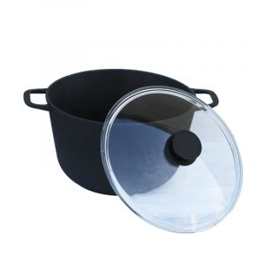 Cast iron casserole with glass lid 0203С