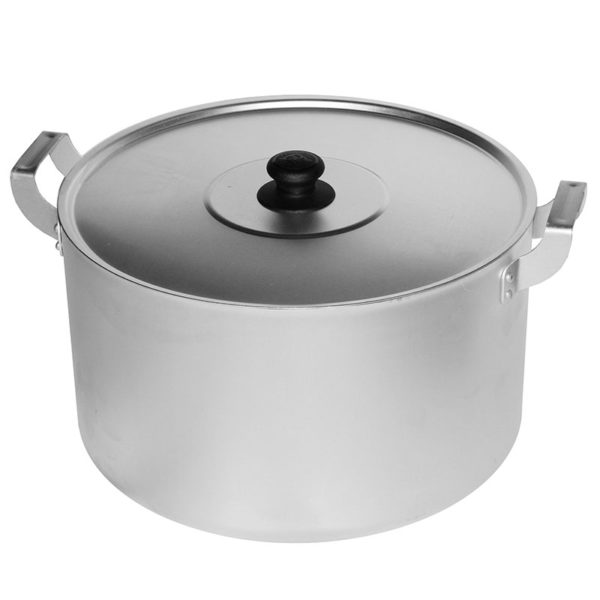Casserole with 2 metal handles and metal lid 14025