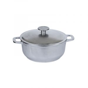 Casserole with thick bottom and lid К201