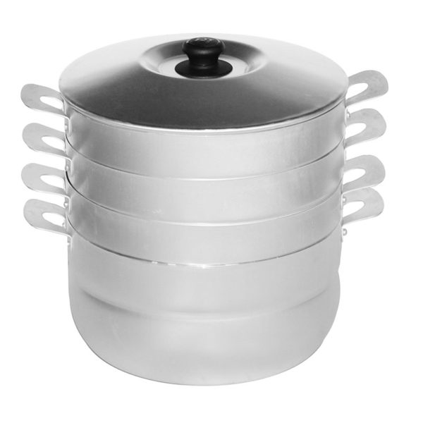 Cooking pot for dumplings with 3 grates 180635