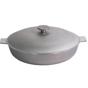 Сковорода с рифленым дном и крышкой A301