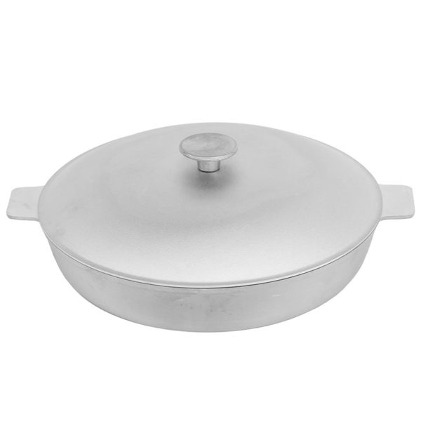 Frying pan with fluted bottom and lid А301