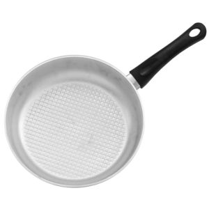Frying pan with fluted bottom and lid A201