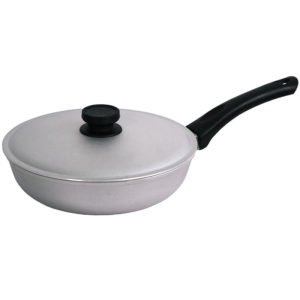 Frying pan with fluted bottom and lid А201