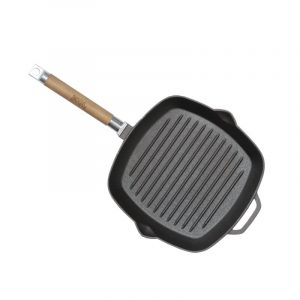 Cast iron grill pan with detachable handle 1026