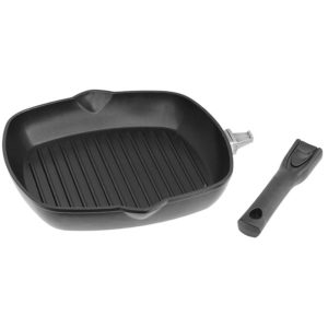 Grill pan with detachable handle 2614P