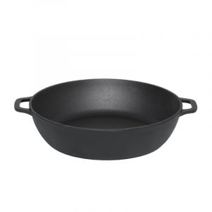 Deep cast iron frying pan 03261