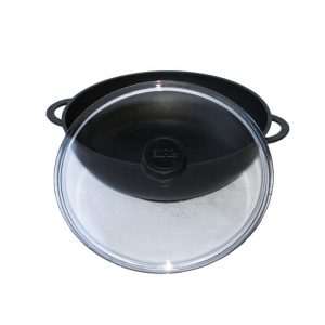 Frying pan WOK with glass lid 2803ПС