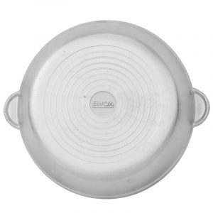 Cast aluminum saute pan with flat bottom with lid A304