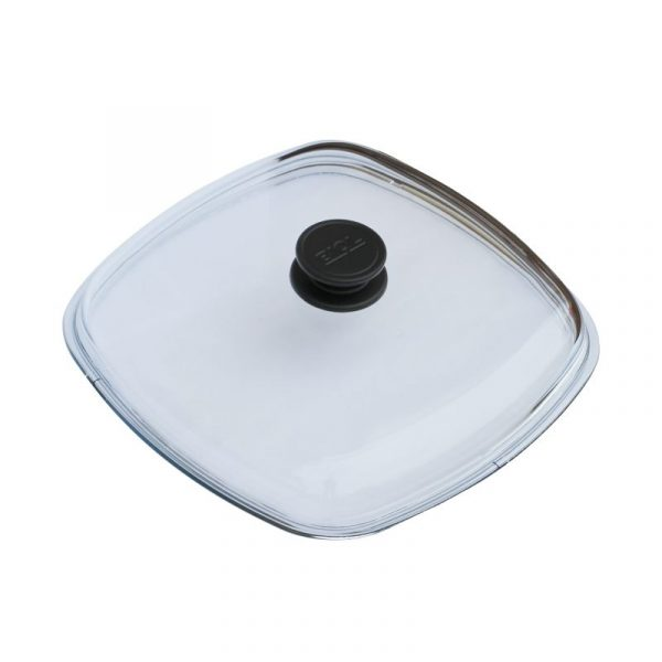 High and square glass lid КС280