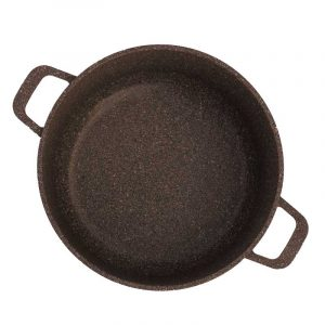"Casserole ""granite brown"" with glass lid"