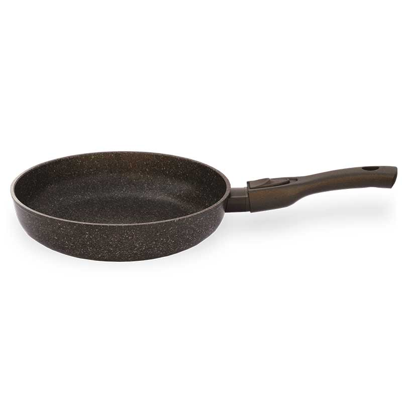Frying Pan Quot Granite Brown Quot With Detachable Handle With
