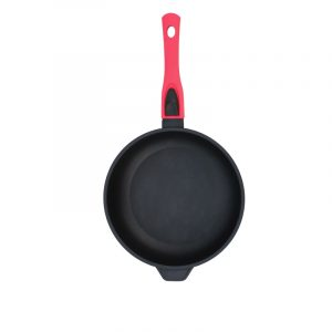 "Frying pan ""Titanal"" with lid and detachable handle with soft touch coating"