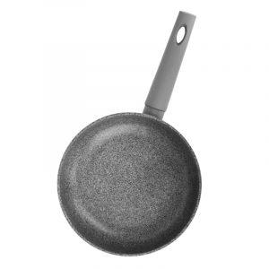 Сковорода Гранит грей с ручкой с покрытием софт тач, без крышки
