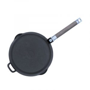 Сковорода чавунна зі знімною ручкою глибина 55 мм 1224