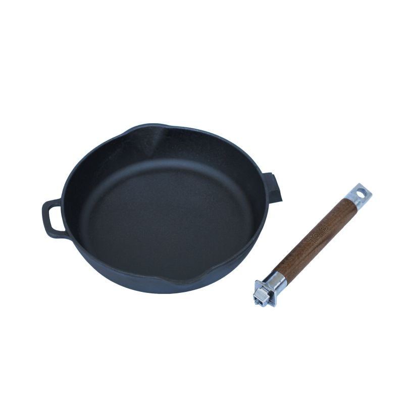 Cast Iron Frying Pan With Removable Handle Depth 55 Mm