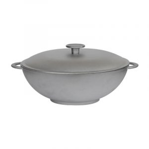 Cast aluminum frying pan WOK 2803K