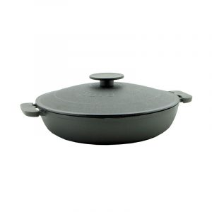 Cast iron deep frying pan with lid 1730K-1750K