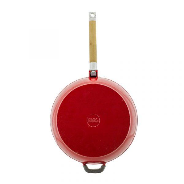 Cast iron frying pan enameled 03243E