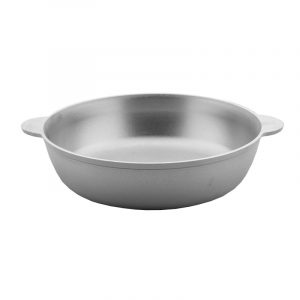 Cast aluminum saute pan with flat bottom C264