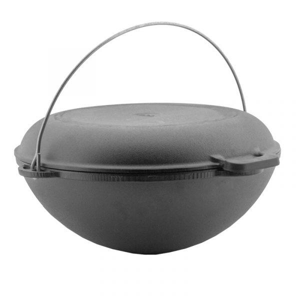 Cast iron Tatarian kazan with frying lid 0908K