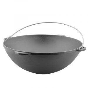 Cast iron Tatarian kazan with frying lid 0908K
