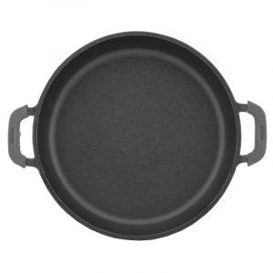 Cast iron portion pan round, enamel coating black (mat) 20146e