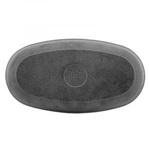 Сковорода порційна овальна чавунна, емаль чорна (матова) 162616e